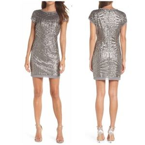 New Vince Camuto Sequin Mini Shift Dress